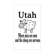 Utah Sheep Rectangle Decal