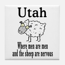 Utah Sheep Tile Coaster