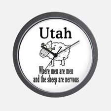Utah Sheep Wall Clock