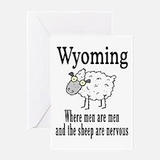 Wyoming Sheep Greeting Card