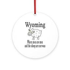Wyoming Sheep Ornament (Round)