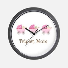 Triplet Mom Buggies GGG Wall Clock