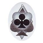Gamblers Suit Oval Ornament