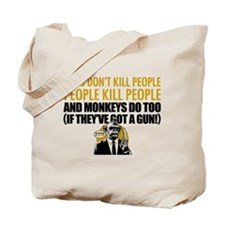 EDDIE IZZARD MONKEY GUN Tote Bag