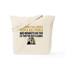 EDDIE IZZARD MONKEY GUN Tote Bag