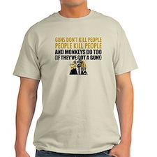 EDDIE IZZARD MONKEY GUN T-Shirt