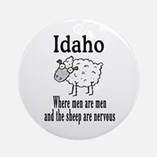 Idaho Sheep Ornament (Round)