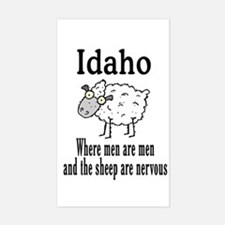 Idaho Sheep Rectangle Decal