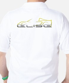 Elise Yellow Outline Front/Rear T-Shirt