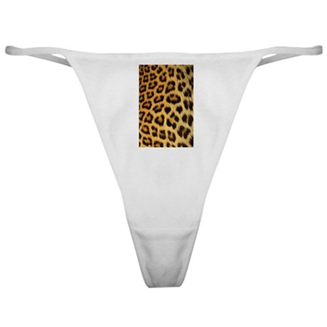 A leopard print on a Classic Thong