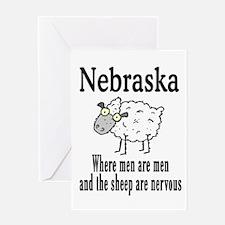 Nebraska Sheep Greeting Card