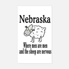 Nebraska Sheep Rectangle Decal