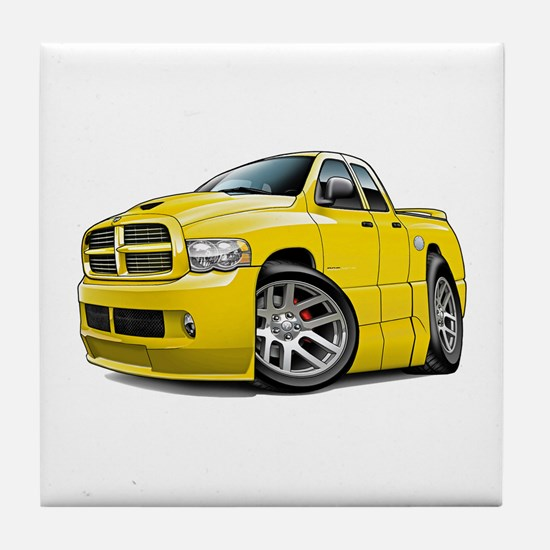 SRT10 Dual Cab Yellow Truck Tile Coaster