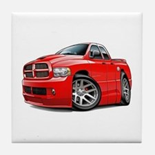 SRT10 Dual Cab Red Truck Tile Coaster