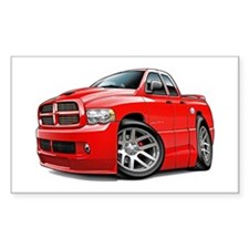 SRT10 Dual Cab Red Truck Rectangle Decal