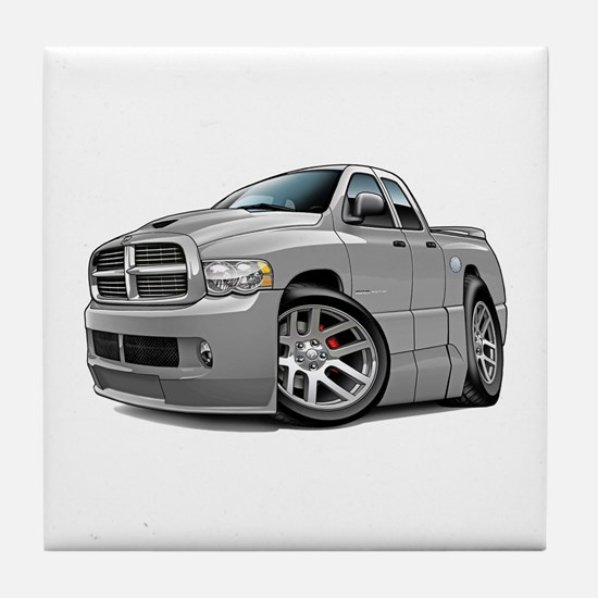 SRT10 Dual Cab Grey Truck Tile Coaster