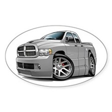 SRT10 Dual Cab Grey Truck Oval Decal