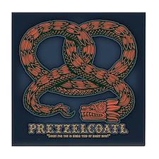 Pretzelcoatl -col Tile Coaster