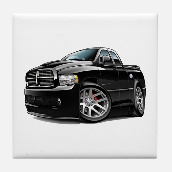 SRT10 Dual Cab Black Truck Tile Coaster