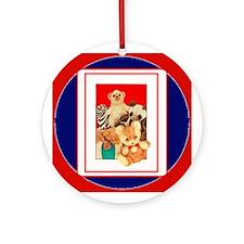 Teddy Bear Menagerie Ornament (Round)