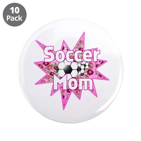"Soccer Mom Pink 3.5"" Button (10 pack)"