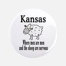 "Kansas Sheep 3.5"" Button"