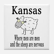 Kansas Sheep Tile Coaster