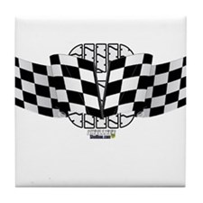 Flags and Wheel Tile Coaster