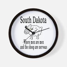 South Dakota Sheep Wall Clock