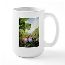 orange-cheeked waxbills Mug
