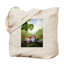 orange-cheeked waxbills Tote Bag