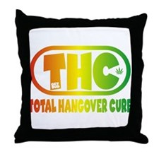 THC logo - Rasta style Throw Pillow