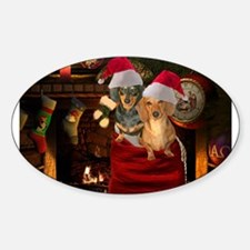 Toy Bag Doxies Oval Sticker (10 pk)
