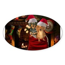 Toy Bag Doxies Oval Sticker (50 pk)
