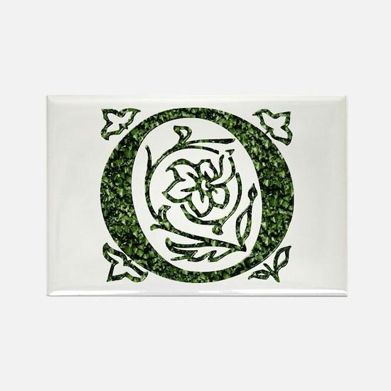 Ivy Leaf Monogram O Rectangle Magnet