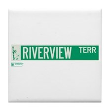 Riverview Terrace in NY Tile Coaster
