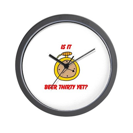 BEER THIRTY Wall Clock