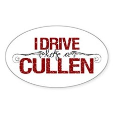 Drive Like a Cullen Oval Sticker (10 pk)
