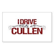 Drive Like a Cullen Rectangle Decal