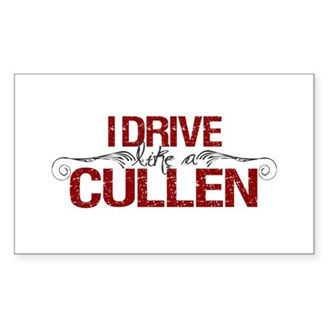 Drive Like a Cullen Rectangle Sticker