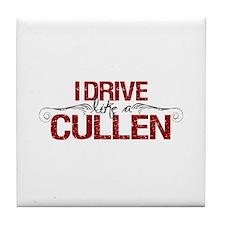 Drive Like a Cullen Tile Coaster