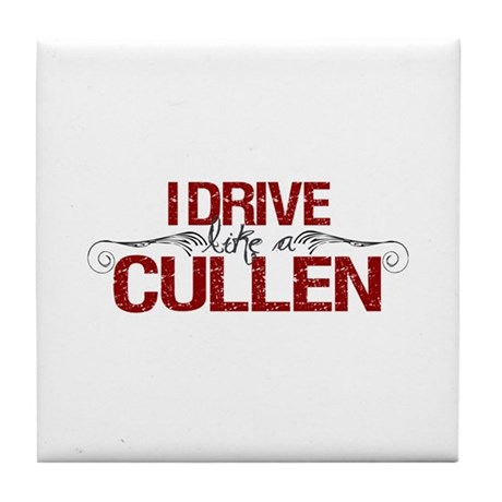 Drive Like a Cullen Tile Coaster