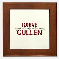 Drive Like a Cullen Framed Tile