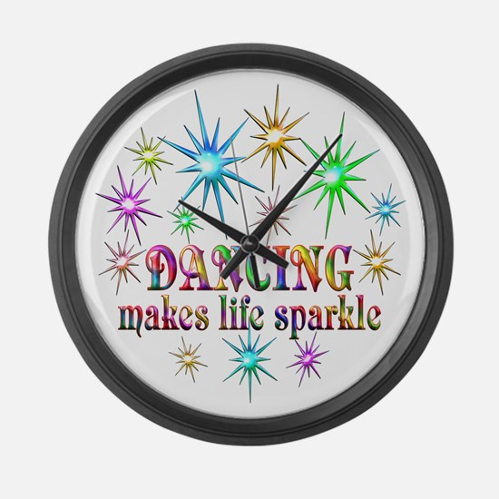 Dancing Sparkles Large Wall Clock