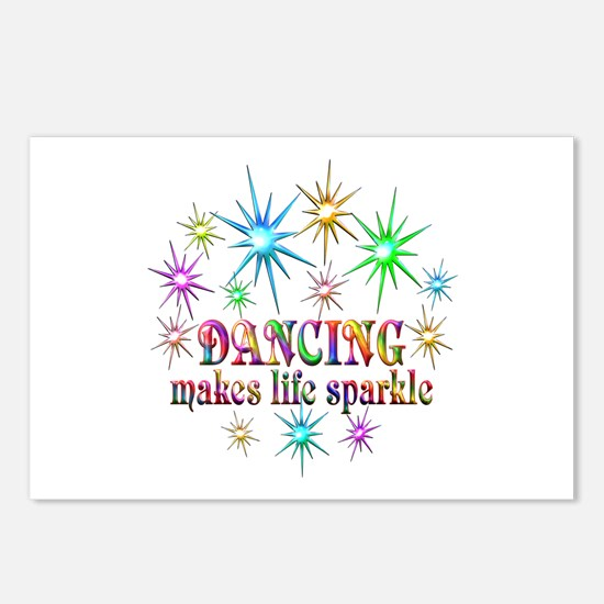 Dancing Sparkles Postcards (Package of 8)