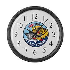 USS Turner (DDR 834) Large Wall Clock
