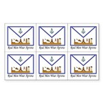 Masonic Real Men Cut-ups Stickers (Rectangular)