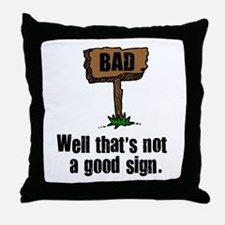 Cute Funny movie lines Throw Pillow