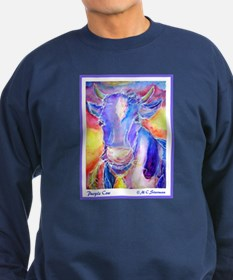 Cow! Purple cow art! Sweatshirt