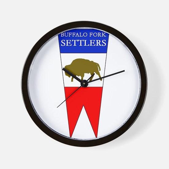 Buffalo Fork Settlers item Wall Clock